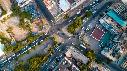 aerial view of the city of Dar es Salaam