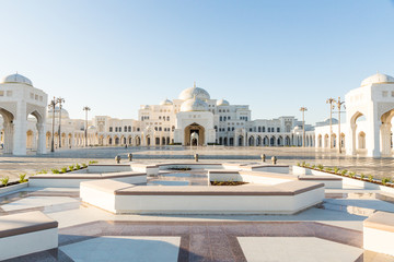 Door stickers Abu Dhabi Qasr Al Watan, UAE Presidential Palace, Abu Dhabi, opened to public on March 12th. View on the palace from the entrance and gardens