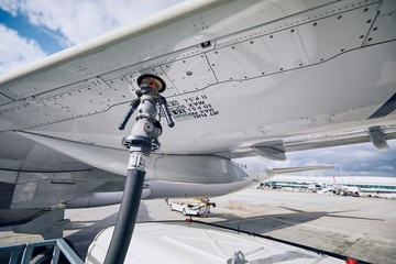 Refueling of airplane