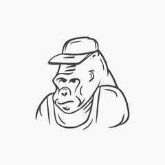 Gorilla, vector illustration
