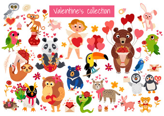 Big Valentine's Day set a cartoon characters