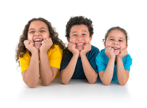 Group of Happy Kids Laughing