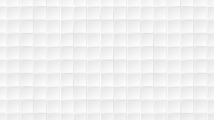 Abstract background of white square tiles with gray gaps between them