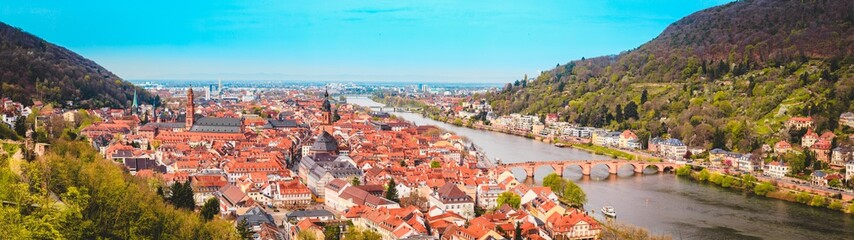 Heidelberg panorama in summer, Baden-Wurttemberg, Germany