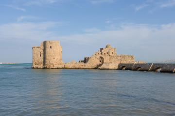 Saida Crusader Castle, Lebanon
