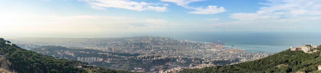 Panorama of Beirut, Lebanon