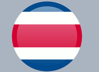 Costa Rican national official flag. Patriotic symbol, banner, element, background. Correct colors. Flag of Costa Rica waving on white background