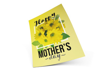 Mother's Day Card with Yellow Flower Elements