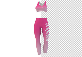 Athletic Leggings and Top Mockup