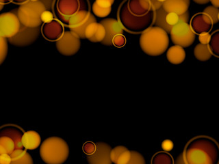 Abstract bokeh yellow background.  Vector illustration eps10 f