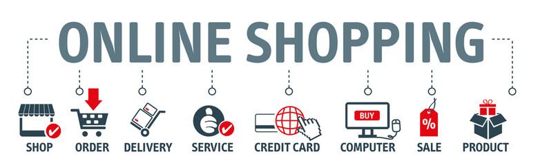Banner online shopping vector illustration