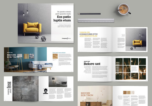 Brochure with Yellow Accents