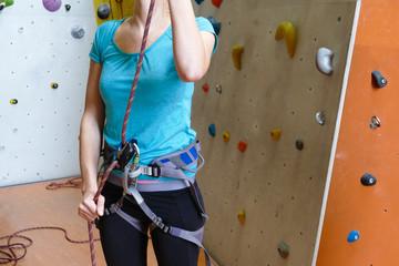 Klettern Kletterhalle Kletterkurs für Frauen