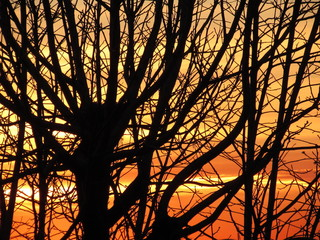 Sonnenuntergang in Fatih, Istanbul, Türkei im Februar
