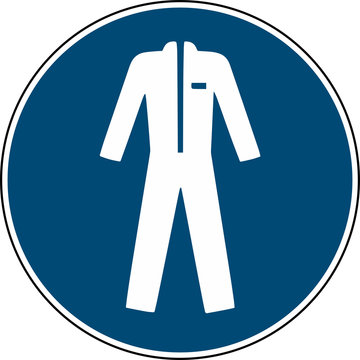 Wear protective clothing sign  - mandatory sign  -