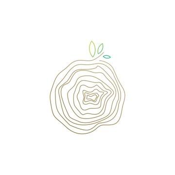 tree wood veins logo vector icon illustration
