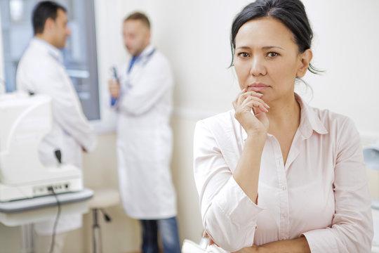 Mature Asian woman at the hospital