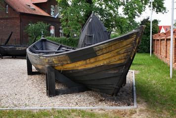 Fishing boat in Hel town. Hel Peninsula. Poland