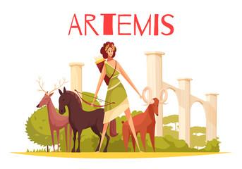 Greek Goddess Vector Illustration