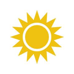 Flat sun icon.
