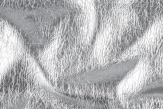 Background with silver textile material, close up – photo image