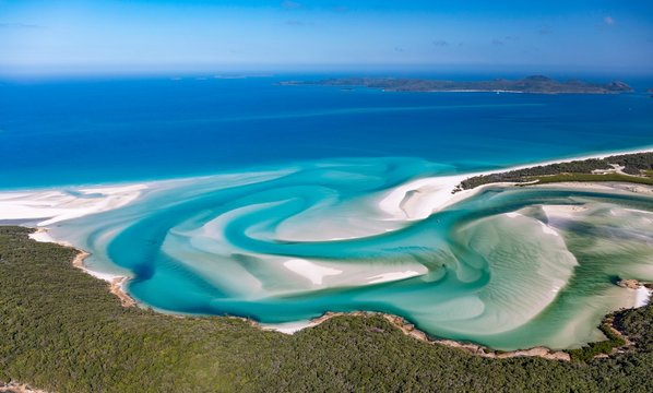 Hill Inlet, turquoise waters, Whitsunday Island, Queensland, Australia, Oceania