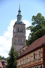Fototapete - Marienkirche in Königsberg in Bayern