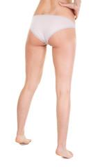 Stretch marks on slim woman buttocks