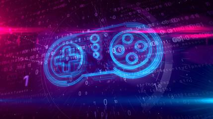 Gamepad controller hologram concept Wall mural