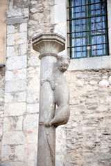 Monument of the Lioness, symbol of the City of Girona, Catalonia, Spain