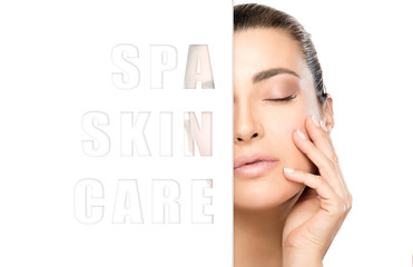 Spa Skin Care concept with a beautiful young woman