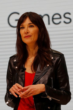 Head of Google's Stadia Games and Entertainment Jade Raymond speaks during a keynote address announcing Google's new cloud gaming service Stadia in San Francisco