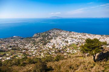 Italy, Campania, Capri, Buildings aginst the sea
