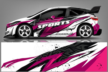 Fototapete - transportation, design, vehicle, race, vector, geometric, mockup, automobile, transport, auto, modern, background, decal, sticker, graphics, branding, racing background, wrapping car, creative, signs,
