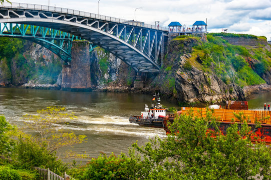 Reversing Falls Road Bridge. over Saint John River in New Brunswick, Canada