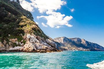 Italy, Campania, Capri, Rocky cliffs