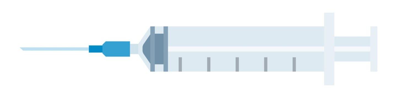 Medical syringe with needle vector icon flat isolated