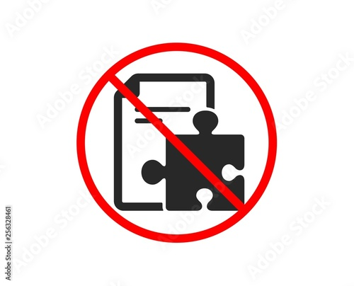 No or Stop  Strategy icon  Technical instruction sign