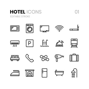 Hotel Line Icons 01