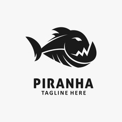 Piranha fish logo design