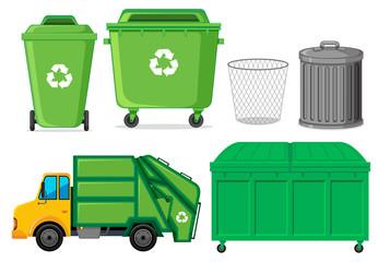 Obraz Set of waste container - fototapety do salonu