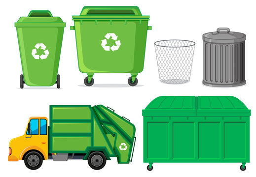 Set of waste container