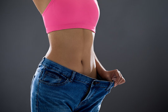 woman loses weight