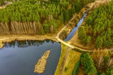 Fototapeta Warmia-jezioro Bogdańskie i kanał Kiermas