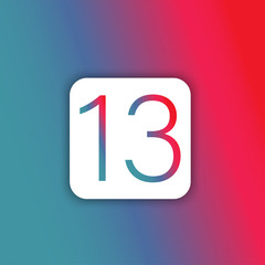 Illustration of Number 13 icon button