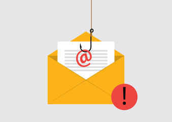 Illustration of Phishing Attack on email
