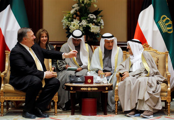 U.S. Secretary of State Mike Pompeo meets with Kuwait's Emir Sheikh Sabah Al-Ahmad Al- Jaber Al-Sabah, in Kuwait City