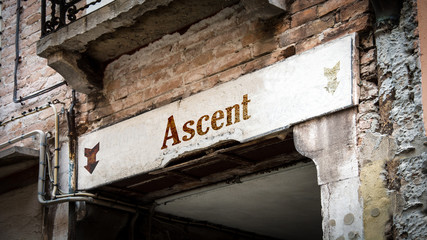 Sign 383 - Ascent