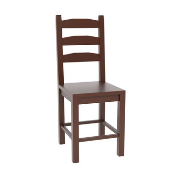 Wooden chair. 3d rendering illustration isolated