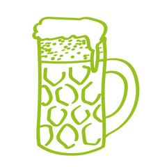 Handgezeichneter Bierkrug in hellgrün